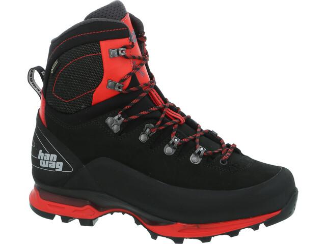 Hanwag Alverstone II GTX Chaussures Homme, black/red